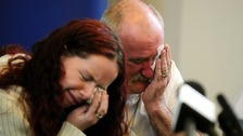 Father Mick Philpott and his wife Mairead at today's news conference.