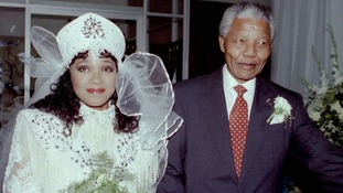 Nelson Mandela and his daughter Zindzi pictured together in October 1992.