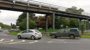 Traffic is notoriously busy on the roundabout.