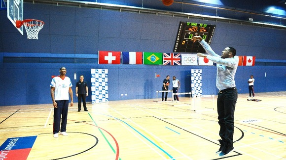 Will Smith (right) with Drew Sullivan, GB Basketball captain.