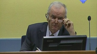 Ratko Mladic is on trial at a war crimes court in The Hague.