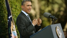 US President Barack Obama has spoken out on gun control one year on from the Sandy Hook massacre