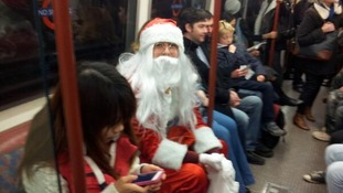 En route to Santacon, London