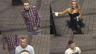 These four people are wanted in connection with the assault