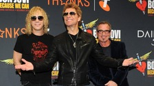 Bon Jovi band members (L-R) David Bryan, Jon Bon Jovi and Tico Torres during the launch of the 'Because We Can' tour in Australia.