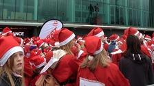 Manchester Santa run