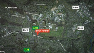 Map of where Kerry Power was found dead in Plymouth