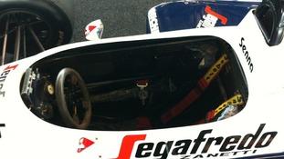 Ayrton Senna's car at Silverstone auction