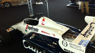 Ayrton Senna's car at Silverstone auction