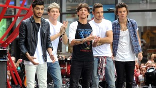 Zayn Malik, Niall Horan, Louis Tomlinson, Liam Payne and Harry Styles perfom in New York.