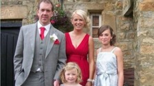 The Dargue family at a wedding before he fell ill.