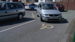 Car and disabled bay
