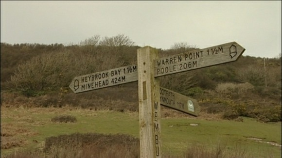 sw coastal path signpost