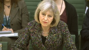 Home Secretary Theresa May addresses the Home Affairs Select Committee.