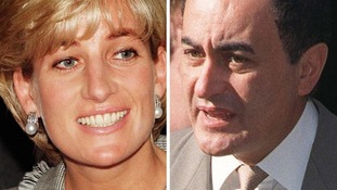 Diana, Princess of Wales, and Dodi al Fayed.