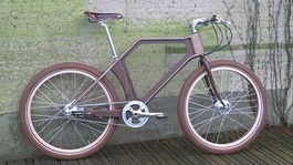 World's first 100% wooden bicycle