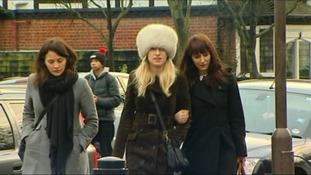 Francesca Grillo on the right seen entering court this morning.