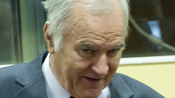 Ratko Mladic, the former Commander of Bosnian Serb Army