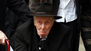 Ronnie Biggs pictured in March at the funeral of Bruce Reynolds, the mastermind behind the Great Train Robbery.