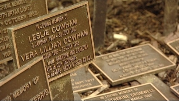 Stolen memorial plaques