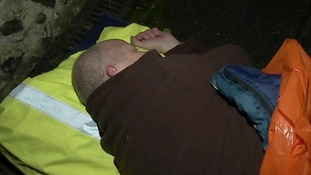 The number of people sleeping rough in the East is said to be on the rise.