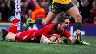 George North scoring