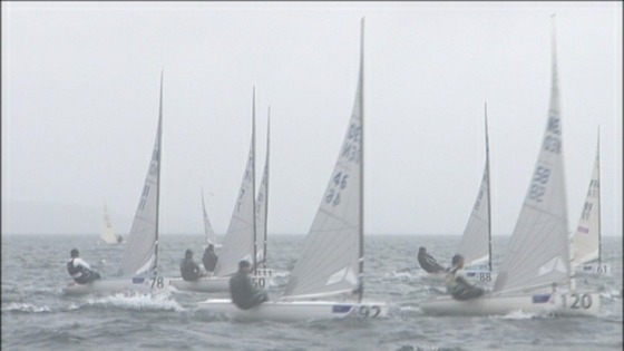 sailors competing in Finn Gold Cup