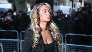 Tulisa Contostavlos pictured arriving at Westminster Magistrates Court in central London.