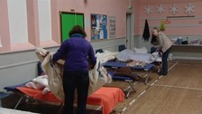 Volunteers working at the Ipswich Winter Night Shelter.