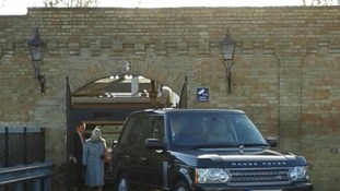 The Range Rover prepares to take the Queen to Sandringham.