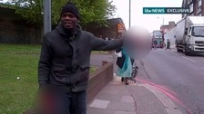 Michael Adebolajo rants at the camera in the moments before police arrice
