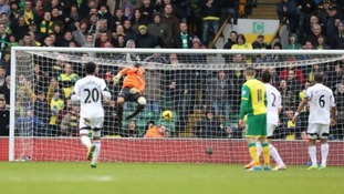 Swansea City's Michel Vorm is powerless to stop Hooper's unstoppable strike.