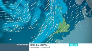 Wet and windy weather this evening