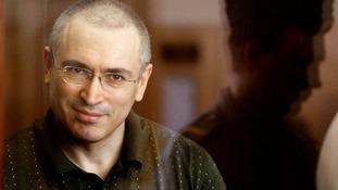 File photograph of former oil tycoon Mikhail Khodorkovsky, who received a presidential pardon.