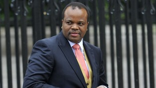 King of Swaziland King Mswati III's invitation to Jubilee sparks protests