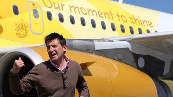 andout photo issued by LOCOG of Lord Coe arriving at Athens International Airport in Greece ahead of the Olympic Flame Handover Ceremony