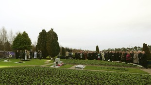 The memorial service to mark the 25th anniversary of the Lockerbie bombing at the memorial site at Dryfesdake Cemetery in Lockerbie