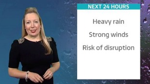 Heavy rain and strong winds could cause disruptions