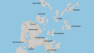 Map of Orkney area