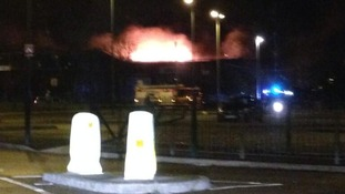 50 firefighters are tackling the blaze at Strykers Bowling