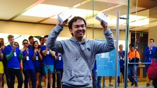 Jimmy Gunawan was first person to get his hands on the iPhone 5 after queuing for 20 hours in September.