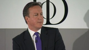 Prime Minister David Cameron has spoken to business leaders in Manchester.