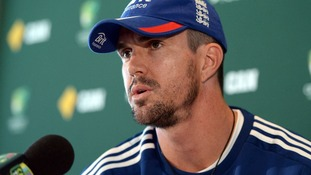 England batsman Kevin Pietersen talks to the media on Tuesday.