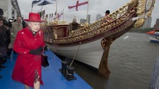 The Duke and Duchess of Cambridge are set to join the Queen on her royal barge