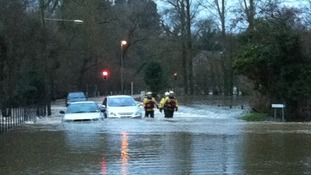 Floodwater warnings for drivers