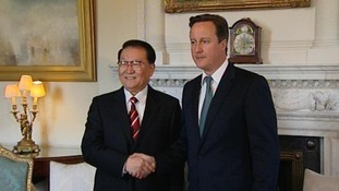 Mr Cameron met Li Changchun where he raised concerns about the death of Neil Heywood last month