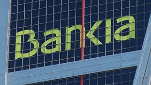 Bankia&#x27;s headquarters building in Madrid