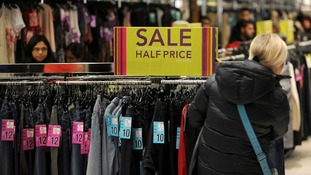 Bargain-hunters browse the racks at Highcross in Leicester