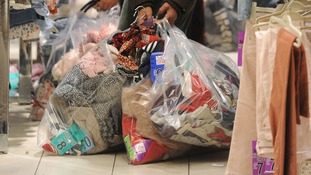 One woman's haul at Highcross in Leicester