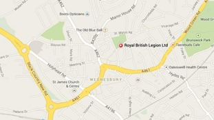 The location of the Royal British Legion Club in Wednesdbury.